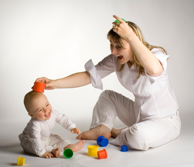 Baby and Nanny Playing