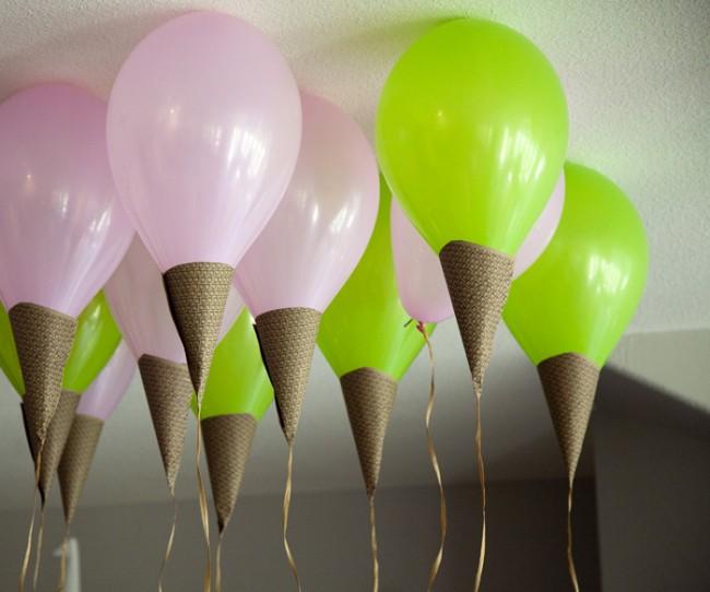 Μπαλόνια παγωτό για το καλοκαιρινό πάρτι των παιδιών