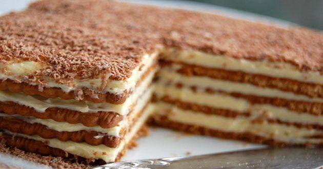 Υπέροχη τούρτα με μπισκότα πτι-μπερ σοκολάτας!!!